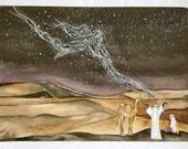 """Fata Morgana, watercolor original, 15""""x11"""", dlrs 110"""