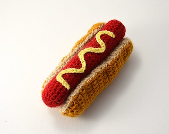 Hotdog Crochet Pattern, Amigurumi Hotdog Pattern, Hot Dog Crochet Pattern, Toy Food Crochet Pattern, Toy Food Amigurumi Pattern, Fast Food