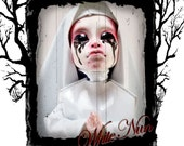 Reserved Listing For Twistedpigtails2 - OOAK Monster High Custom Repaint Art Doll - American Horror Story Asylum White Nun