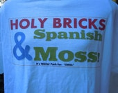 I LUV Winter Park T-shirt . . . Holy Bricks and Spanish Moss T . . . on White, Sizes S, M, L, XL