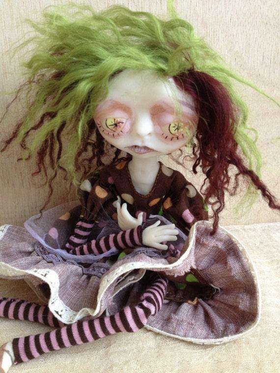 OOAK Art Doll Sad Maude
