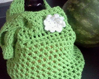 Child Themed Large Sized Crocheted Market and Beach Bag