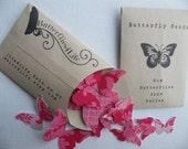 "Butterfly Seed Packet - 36 petit  Diecut Pieces - ""FancyPants"" Set - Handmade packaging"