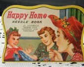 Vintage Happy Home Needle Book 21 silver eye needles