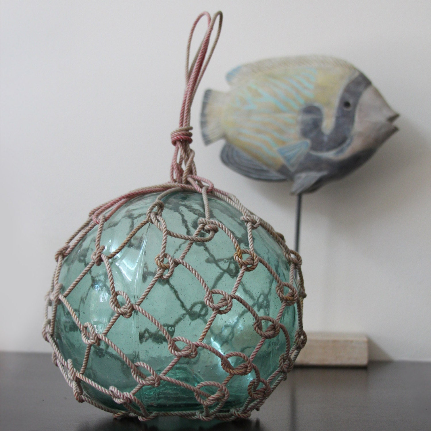 Vintage japanese glass fishing floats 9 10 nautical by for Japanese fishing floats