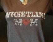 Wrestling Mom Bling Shirt