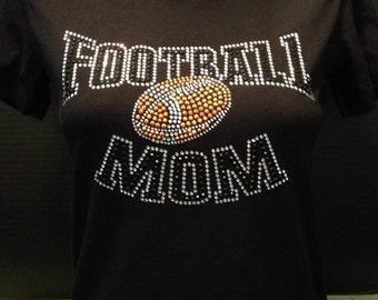 Football Mom Bling (Black Rhinestones)