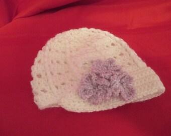 Crochet child hat, beanie, cloche, newsboy cap
