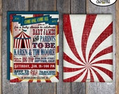 Circus Baby Shower Invitation | Carnival Baby Shower Invitation | Vintage Circus Shower | Vintage Carnival Shower | Cirque Du Bebe|Printable