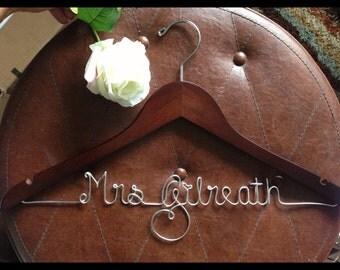 SALE Personalized wedding dress hanger, bride hanger, wedding dress hanger, bridesmaid, gift