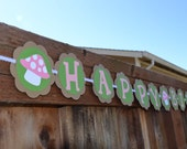 Woodland fariy Birthday banner with personalized name
