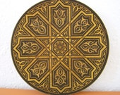 Vintage Islamic Style Footed Plate/Bowl