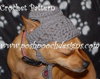 Instant Download Crochet Pattern - Billed Dog Hat beanie Hat for Small Dogs 2-20 lbs