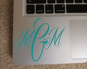 Monogram Decal - Personalized for computer or any other surface