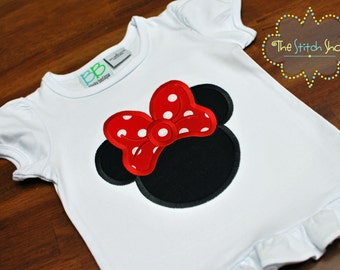 Minnie Appliqued  Shirt