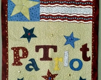 Quilted Wall-hanging- Patriot