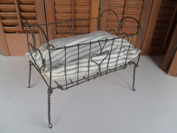 Items Similar To Antique Wire Metal Baby Doll Bed On Etsy