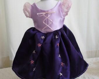 "Rapunzel Dress for 18"" Doll"