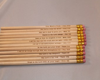 Engraved Pencils - Bible Verses