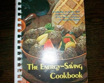 Vintage Cookbook The Energy Saving Cook Book Nat'l. Fed. of Republican Women