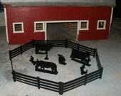 SMW Black Powder Coated Steel Farm Yard Fence Barn Animals Heavy Duty