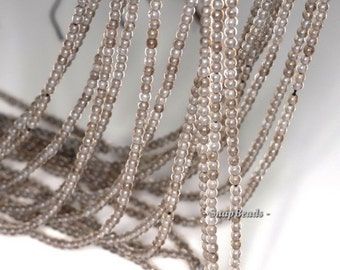 2mm Champagne Smoky Quartz Gemstone Round 2mm Loose Beads 16 inch Full Strand (90113990-107 - 2mm A)