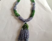 Tanzanite beads Tsavorite beads  necklace weight 162 carats size 3 mm length 19.5 Inches AAAAA quality designer beads necklace