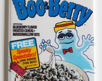 Boo Berry Cereal Box Fridge Magnet
