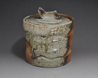 Shigaraki, anagama, ten-day anagama wood firing, with natural ash deposits water jar. mizu-65