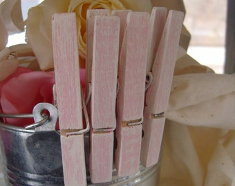 Its a GIRL Baby shower Pink clothespins set of 50