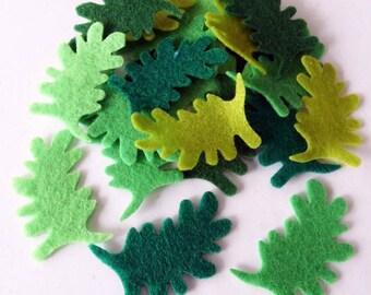 Felt Leaves. 25 pieces. Die Cut Shapes, felt shapes, Party Supply, DIY Wedding, Scrap supply, felt die cut, felt supplies, felt for crafts