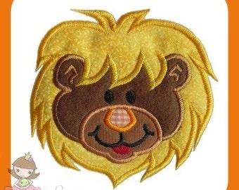 Lion 2 Applique embroidery design