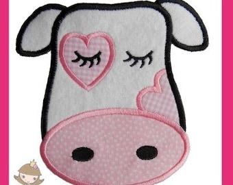 Girl Cow Applique design