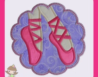 Ballerina patch Applique design