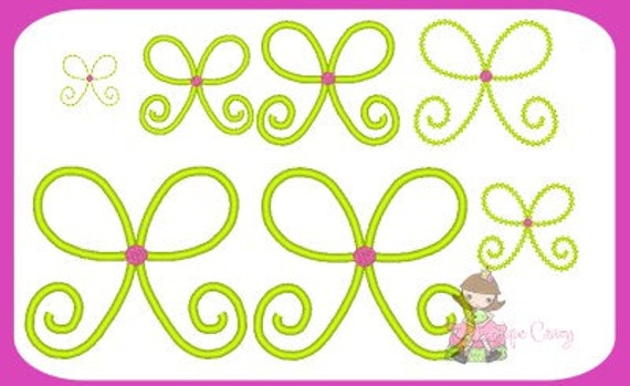 Simple Bow embroidery design