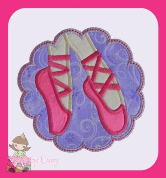 Ballerina patch Applique design
