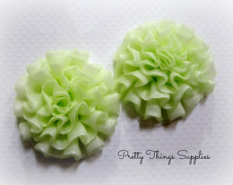 Green Fabric Rose. Green Roses. 1 Flower.  BELLA Collection.