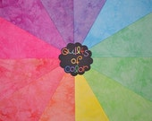 Hand Dyed Fabric - Cotton Quilt, FRUIT SORBET Color Wheel, 12 Fat Quarters