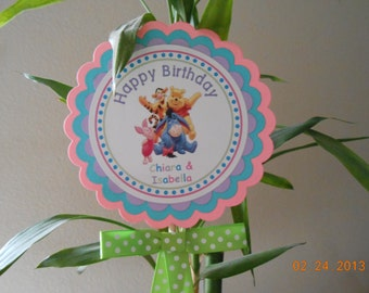 Winnie the Pooh Centerpiece-Winnie the Pooh Cake Topper-Winnie the Pooh Decoration-Pooh Party Decoration-Pooh Birthday-Girl's Birthday