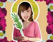 Saint Agatha Catholic patron saint against Breast Cancer magnetic paper doll