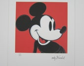 Andy WARHOL Mickey Mouse lithograph signed numbered edition 814/5000