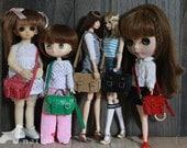 Naiko-handmade bag This is a  school bag  for bjd yosd momoko JerryBerry  misaki Barbie blythe and pullip