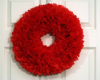 Valentine's Wreath - Holiday Wreath - Red Wreath - Valentine's Wreath - Outdoor Wreath - Door Wreath - Indoor Outdoor Wreath - Bright Wreath