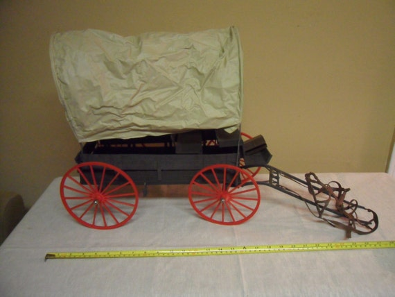 Vintage Marx Toys Johnny West Covered Wagon
