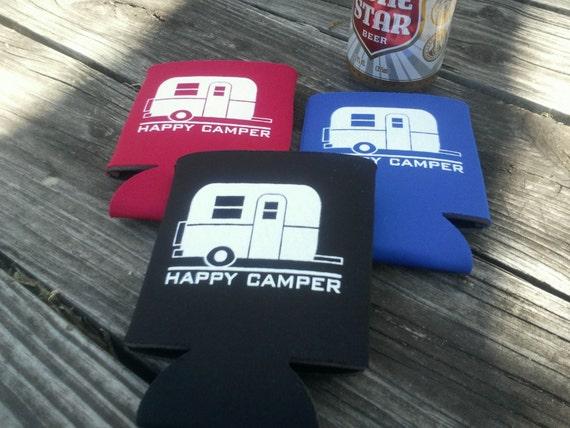 Happy Camper Koozies - Set of 10