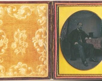 Judge Lawyer 1/4 Plate ambrotype quarter cased antique original photograph