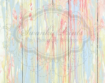 IN STOCK / Fast Shipping / 4ft x 4ft Vinyl Photography Backdrop / Pastel Splashed Paint