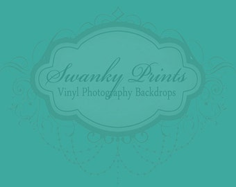 LARGE 8ft x 5ft Solid Light Sea Green ----- Vinyl Photography Backdrop