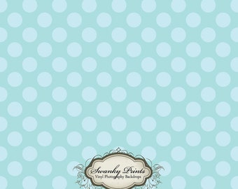 IN STOCK / Fast Shipping / 4ft x 4ft Vinyl Photography Backdrop / Big Blue Polka Dots