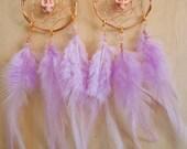 skull & feather dreamcatcher earrings
